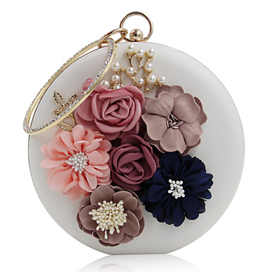 Women's Bags PU(Polyurethane) Evening Bag Rhinestone / Beading / Petal Red / Blushing Pink / Almond / Wedding Bags / Wedding Bags