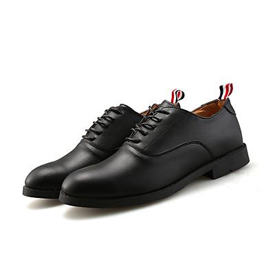 Miehet kengät PU Kesä Syksy Comfort Valopohjat muodollinen Kengät Oxford-kengät Käyttötarkoitus Kausaliteetti Musta Ruskea Sininen