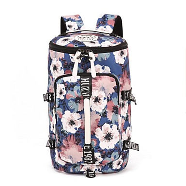 Women's Bags Canvas Sports & Leisure Bag for Casual All Seasons Black Fuchsia Red / Blue