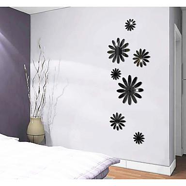 Autocolantes de Parede Decorativos - Autocolantes de Parede Espelho Abstrato / Formas / 3D Sala de Estar / Sala de Jantar / Quarto de