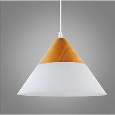 Luzes Pingente Luz Ambiente Madeira Madeira / Bambu Vidro Proteção para os Olhos 110-120V / 220-240V Branco Quente Lâmpada Não Incluída / E26 / E27