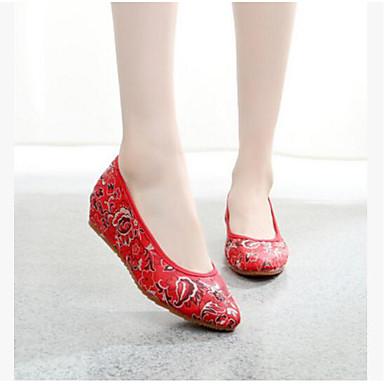 Dame Sko Tekstil Flate Flate sko til Trening Rød Blå
