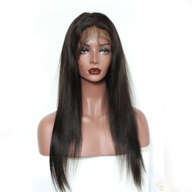 Human Hair Lace Front Wig / Glueless Lace Front Wig Deep Wave 120% Density Natural Hairline / African American Wig / 100% Hand Tied Women's Short / Medium Length Human Hair Lace Wig