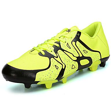 Homens sapatos Couro Ecológico Primavera Outono Solados com Luzes Conforto Tênis Futebol Cadarço para Atlético Preto Laranja Verde Azul