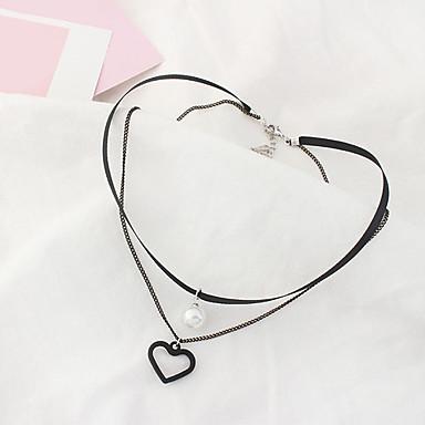 Naisten Choker-kaulakorut - Heart Muoti, Euramerican Valkoinen, Musta Kaulakorut Käyttötarkoitus Päivittäin
