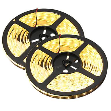 HKV 10m Flexible LED Light Strips 300 LEDs 5630 SMD Warm White / White Waterproof / Cuttable / Linkable 12 V 2pcs / IP65 / Self-adhesive