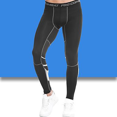 Calças de Corrida Compressão Calças Ioga Exercício e Atividade Física Basquete Corrida Preto