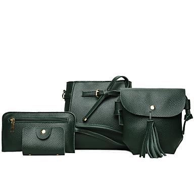 8725019bf7 Γυναικεία Τσάντες PU Σετ τσάντα 4 σετ Σετ τσαντών Ανθισμένο Ροζ   Γκρίζο    Καφέ   Τσάντα Σετ