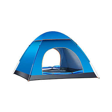 4 personer Turtelt Enkelt Automatisk Kuppel camping Tent Utendørs Vanntett, Hold Varm til Camping & Fjellvandring / Camping Oxford
