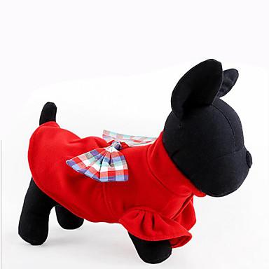 Hund Genser Hundeklær Fritid/hverdag Sløyfeknute Mørkeblå Rød Kostume For kjæledyr