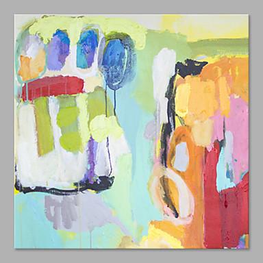 Maalattu Abstrakti Pysty, Taiteellinen Abstrakti Kangas Hang-Painted öljymaalaus Kodinsisustus 1 paneeli