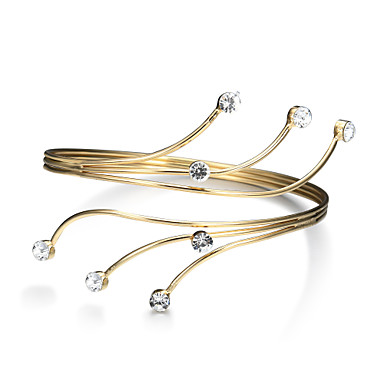Women's Hollow Cuff Bracelet Wide Bangle - Punk, Fashion Bracelet Gold For Christmas Gifts Birthday Gift