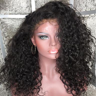 Hot 100% Human Vigin Hair Full Lace Wig 150% Density Peruvian Deep Curly Full Lace Human Hair Wigs Glueless Human Hair Lace Front Wigs For Black Women