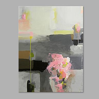 Hang malte oljemaleri Håndmalte - Abstrakt Kunstnerisk Lerret