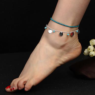 Tornezeleira - Mulheres Dourado Prata Boêmio Fashion Tornezeleira Para Diário