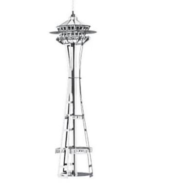 3D-puslespill Puslespill Metallpuslespill Modellsett Tårn Arkitektur 3D GDS Rustfritt Stål Chrome Jern Metall Klassisk 6 år og oppover