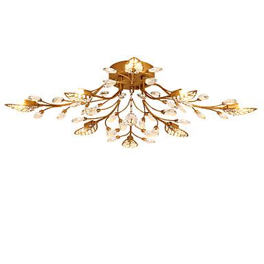 LightMyself™ Montagem do Fluxo Luz Ambiente - Cristal, Chique & Moderno Moderno / Contemporâneo, 200-240V 110-120V Lâmpada Incluída