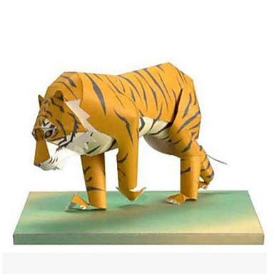 voordelige 3D-puzzels-3D-puzzels Bouwplaat Modelbouwsets Tiger Dieren DHZ Simulatie Klassiek Kinderen Unisex Speeltjes Geschenk