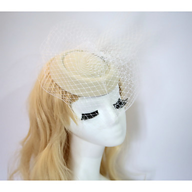 Pryskyřice / Bavlna Fascinátory / Klobouky s 1 Svatební / Zvláštní příležitosti / Halloween Přílba
