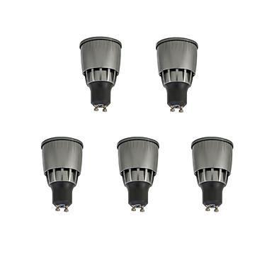 5pcs 7 W 780 lm GU10 LED szpotlámpák 1 LED gyöngyök COB Dekoratív Meleg fehér / Hideg fehér 85-265 V / 5 db.
