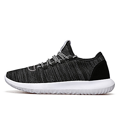 Men's Shoes PU Summer Novelty Sneakers For Outdoor Black Gray Blue