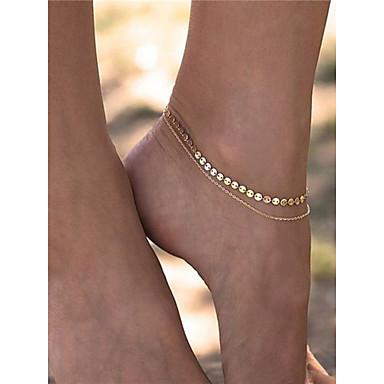 Geométrica Bijuteria para Pés - Fashion Dourado Para Dia a Dia Diário Casual Mulheres