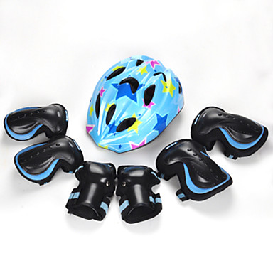 Kids' Adults' Protective Gear Knee Pads + Elbow Pads + Wrist Pads Skate Helmet for Cycling Skateboarding Inline Skates Roller Skates