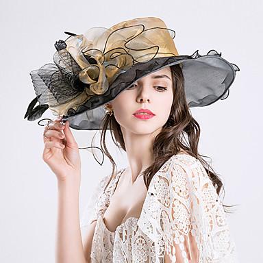 billige Hodeplagg til fest-Fjær / Silke / organza Kentucky Derby Hat / fascinators / Hatter med 1 Bryllup / Spesiell Leilighet / Fest / aften Hodeplagg