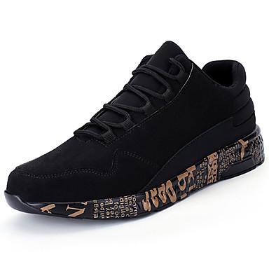 Homens sapatos Couro Ecológico Primavera Outono Conforto Tênis para Ao ar livre Dourado Preto Vermelho