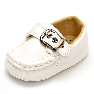 Para Meninos sapatos Courino Primavera Outono Conforto Rasos Velcro para Casamento Casual Ao ar livre Festas & Noite Branco Preto