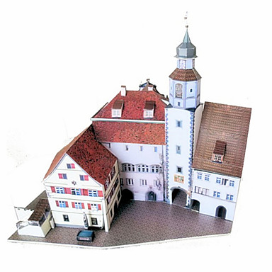 3D Puzzles Paper Model Paper Craft Model Building Kit Castle Famous buildings Architecture DIY Classic Unisex Gift