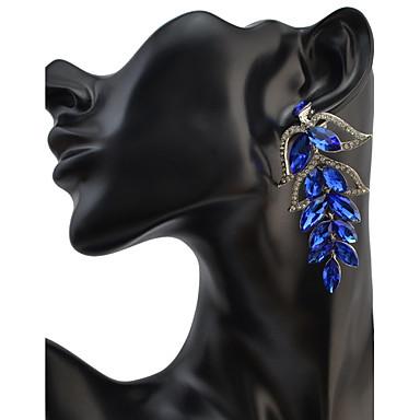 Drop Earrings Women's Euramerican Fashion Leaf Luxury Rhinestone  Earrings  Party Daily Movie Jewelry