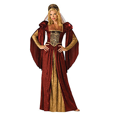 Dronning Cosplay Cosplay Kostumer Party-kostyme Kvinnelig Halloween Karneval Festival/høytid Halloween-kostymer Vintage