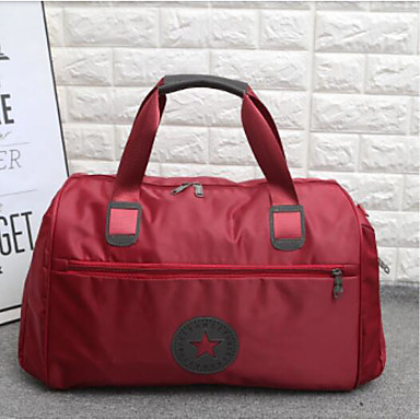 Unisex Travel Bag Oxford Cloth Polyester All Seasons Casual Outdoor Rectangle Zipper Blue Black Wine