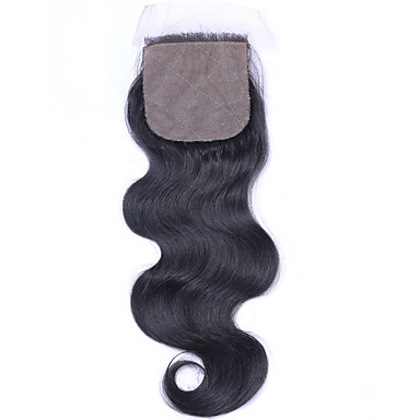 Beata Hair 4*4inch Silk Base Closure Body Wave Natural Color Brazilian Virgin Hair Closure 8-20inch Long 1 Piece
