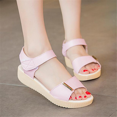 Women's Shoes PU Spring Comfort Sandals For Casual White Light Pink