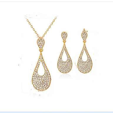 Women's Synthetic Diamond Jewelry Set - Gold Plated Drop Fashion, Euramerican Include Bridal Jewelry Sets Gold For Party Event / Party Dailywear