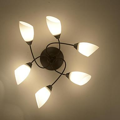 6-Light Mennyezeti lámpa Háttérfény - Tükröződésmentes, Mini stílus, 220 V / 110 V Az izzó nem tartozék / 10-15 ㎡ / E26 / E27