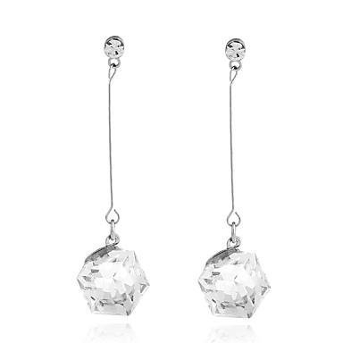 Dame Dråpeøreringer Krystall Hengende Ferroalloy Geometrisk Form Smykker Til Hverdag Avslappet Stadie