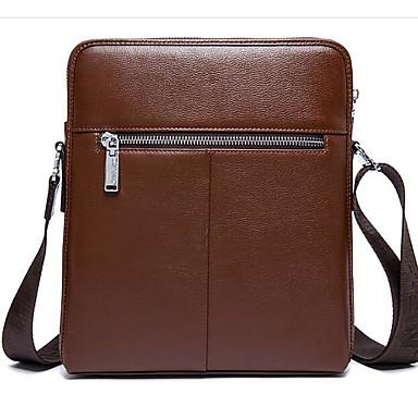 Men Bags All Seasons Cowhide Shoulder Bag with for Casual Outdoor Black Brown Deep Blue