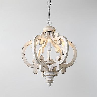 6-Light Chandelier Uplight - Mini Style, 110-120V / 220-240V Bulb Not Included / 20-30㎡ / E12 / E14