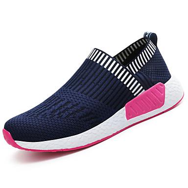 Mulheres Sapatos Malha Respirável Couro Ecológico Primavera Verão Solados com Luzes Conforto Tênis Sem Salto Ponta Redonda para Casual