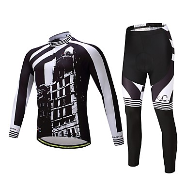 Long Sleeves Cycling Jersey with Tights Bike Clothing Suits, Quick Dry