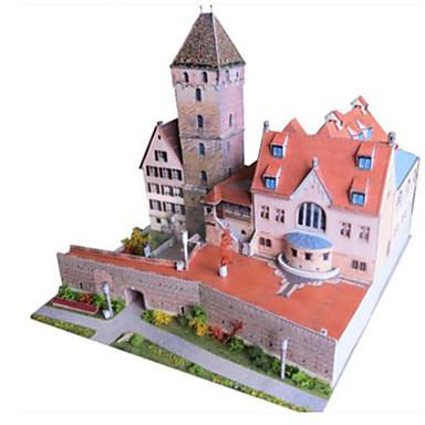 Quebra-Cabeças 3D Maquetes de Papel Artesanato de Papel Brinquedos de Montar Quadrada Construções Famosas Arquitetura 3D Simulação Faça