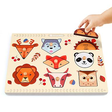 Ferramentas de Ensino Montessori Blocos de Construir Quebra-Cabeça Jogos de Madeira Brinquedos Matemáticos Brinquedo Educativo Quadrada