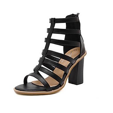Naiset Sandaalit Comfort Nahka Kevät Kausaliteetti Comfort Musta 2-2,75in