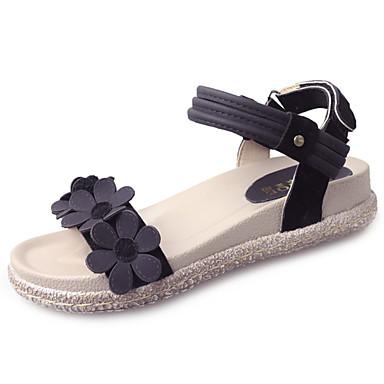 Naiset Sandaalit Comfort Kesä Kumi Kävely Soljilla Block Heel Musta Beesi Alle 1in