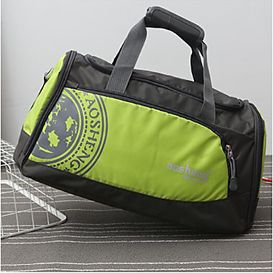 Unisex Travel Bag Polyester All Seasons Casual Outdoor Rectangle Zipper Blue Green Black Red