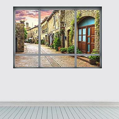Landskap Veggklistremerker 3D Mur Klistremerker Dekorative Mur Klistermærker, Plast Hjem Dekor Veggoverføringsbilde Vegg