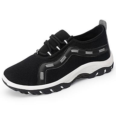 Homens sapatos Couro Ecológico Primavera Outono Conforto Tênis Aventura para Ao ar livre Preto Cinzento Azul